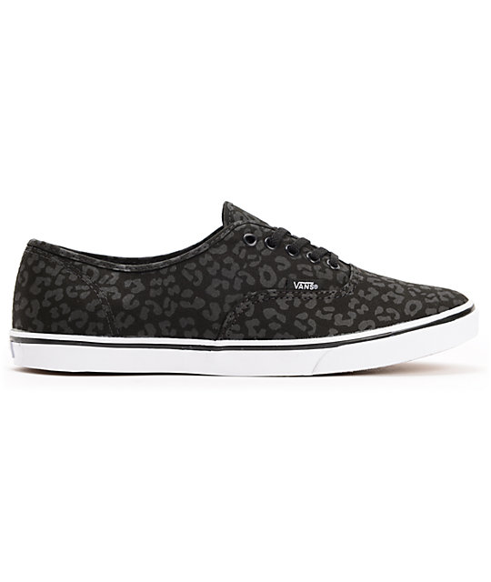 Vans Authentic Lo Pro Black Leopard Print Shoes