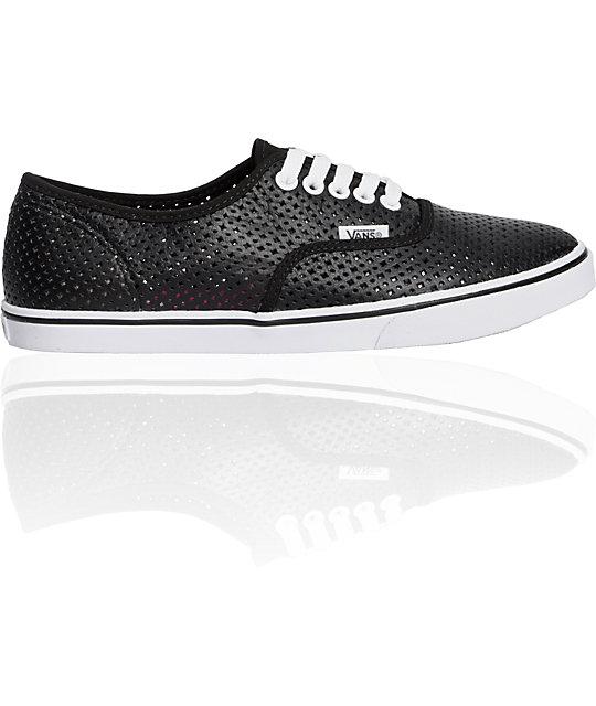 Vans Authentic Lo Pro Black Perf Shoes
