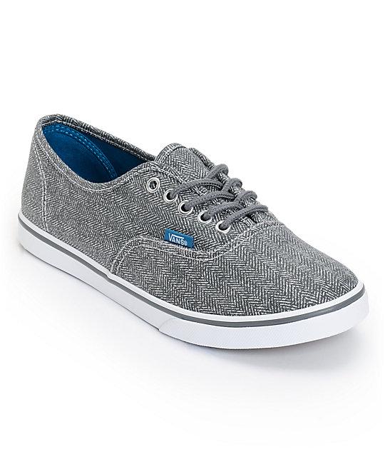 Vans Authentic Lo Pro Castlerock Grey HB Print Shoes (Womens)