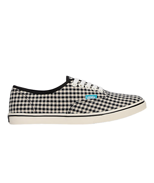 Vans Authentic Lo Pro Gingham Black & White Shoes (Womens)