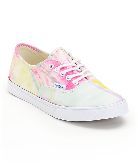 Vans Authentic Lo Pro Marble Pink & True White Shoes (Womens)