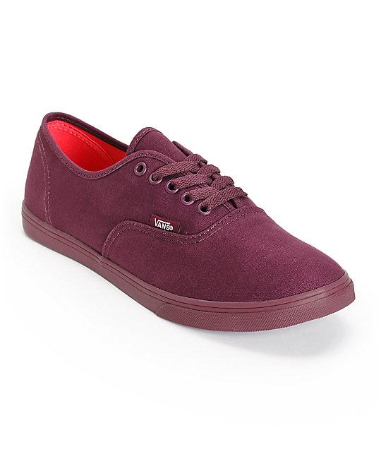 Vans Authentic Lo Pro Monotone Fig Shoes (Womens)