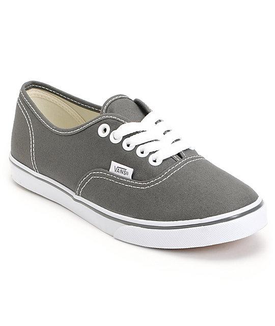Vans Authentic Lo Pro Pewter Shoes (Womens)