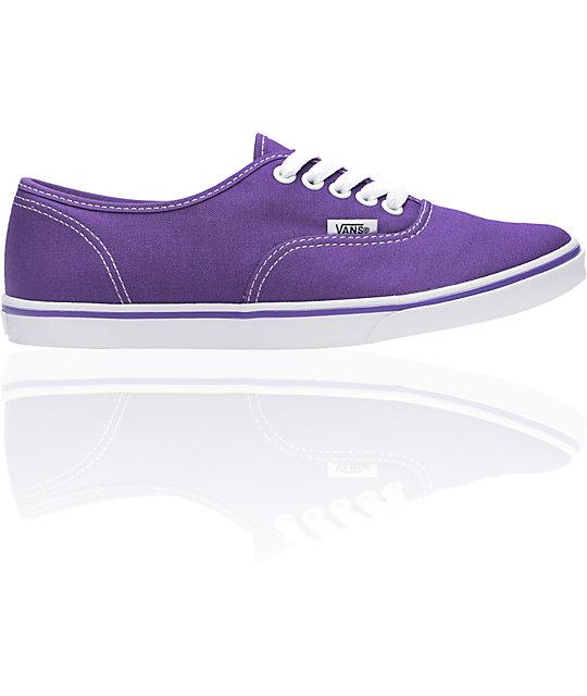 Vans Authentic Lo Pro Purple & White Shoes (Womens)