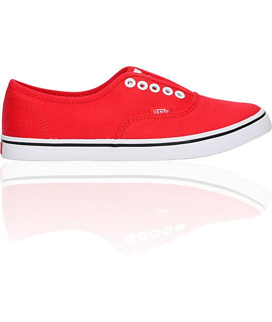 Vans Authentic Lo Pro Red Gore Shoes (Womens)