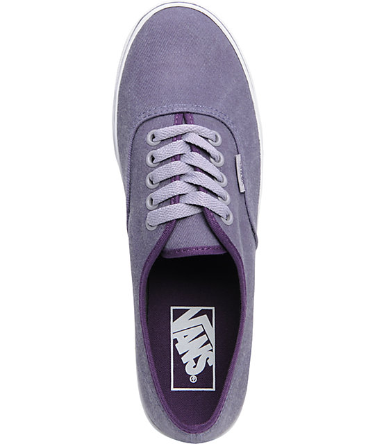 Vans Authentic Lo Pro Sweet Grape Purple Twill Shoes