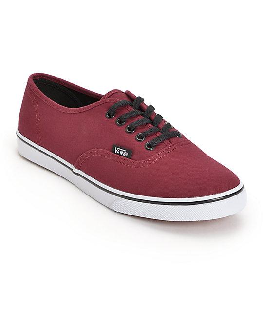 Vans Authentic Lo Pro Tawny Port Shoes (Womens)