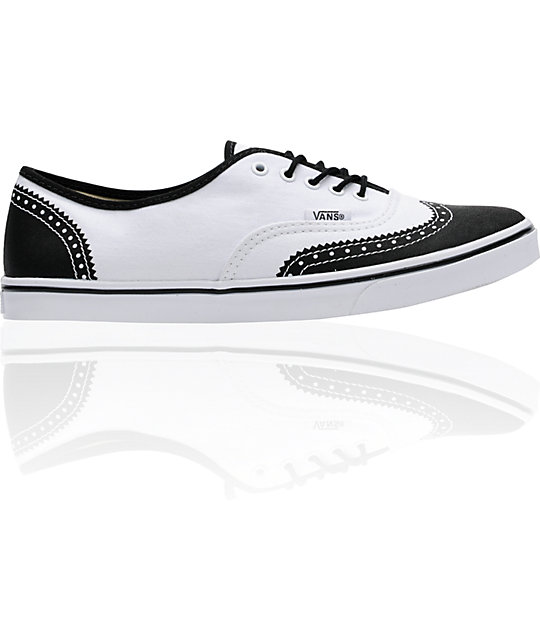 Vans Authentic Lo Pro White Printed Oxford Shoes
