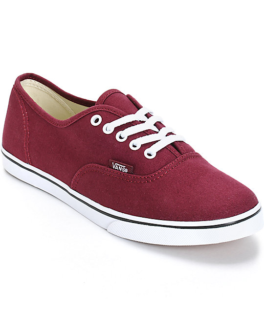 Vans Authentic Lo Pro Windsor Wine Shoes at Zumiez : PDP