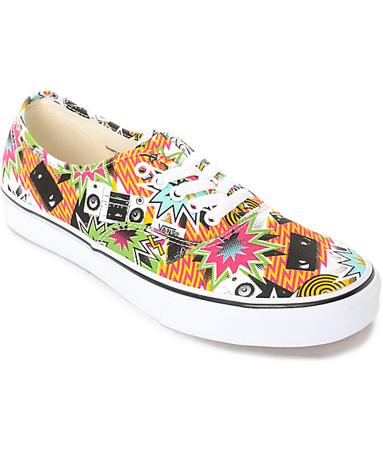 Vans Authentic Mixed Tape Skate Shoes