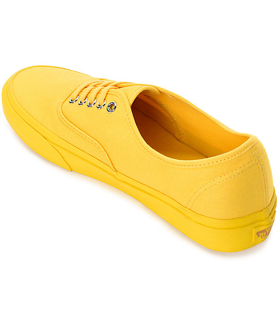 Vans Authentic Mono Spectra Yellow Canvas Skate Shoes