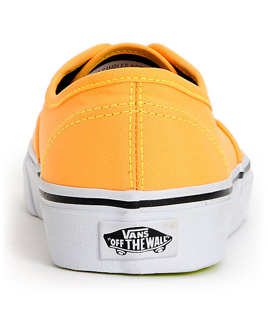 Vans Authentic Neon Orange & Yellow Shoes