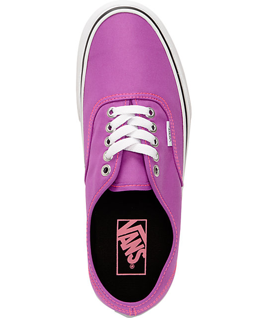 Vans Authentic Neon Purple & White Shoes