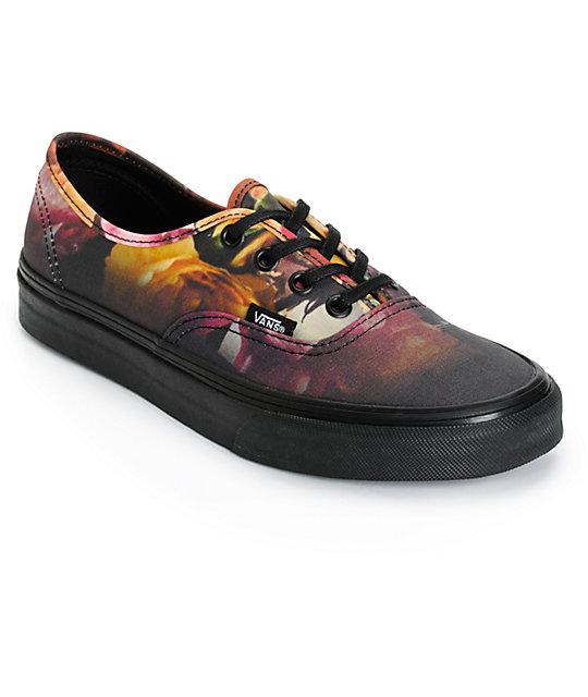 Vans Authentic Ombre Floral Shoes (Womens)
