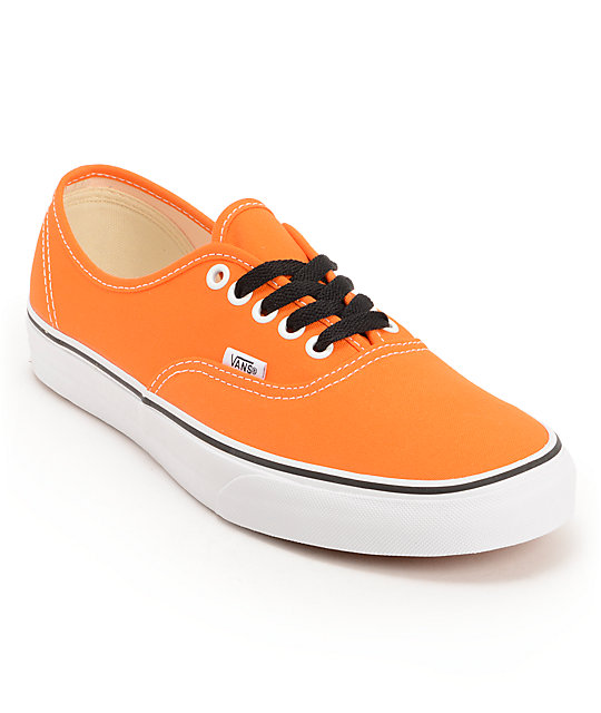 Vans Authentic Persimmon Orange & True White Skate Shoes (Mens)