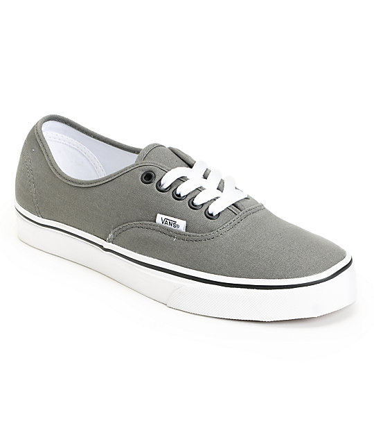 Vans Authentic Pewter & Black Skate Shoes (Mens)