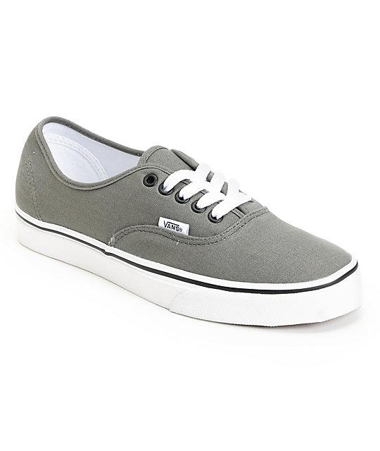 Vans Grey Authentic Lace-Up Skate Shoes at Zumiez : PDP