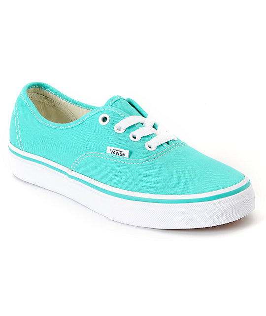 Vans Authentic Pool Green & White Shoes (Womens)