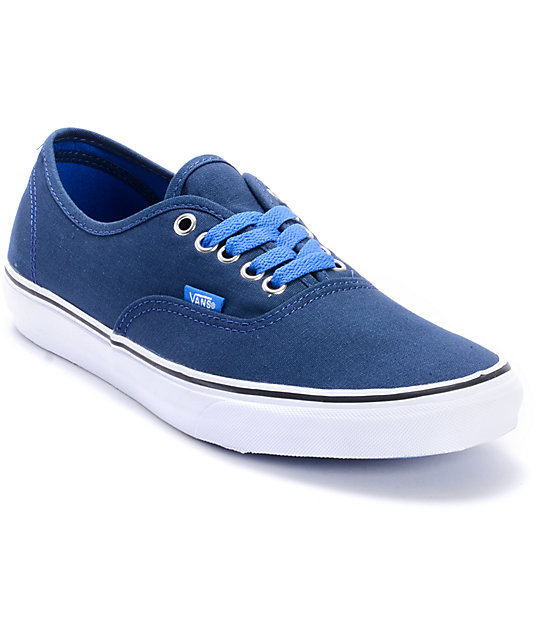 Vans Authentic Pop Lace Dress Blues Skate Shoes (Mens)
