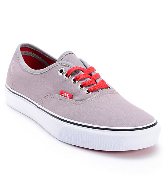 Vans Authentic Pop Lace Frost Grey Skate Shoes (Mens)