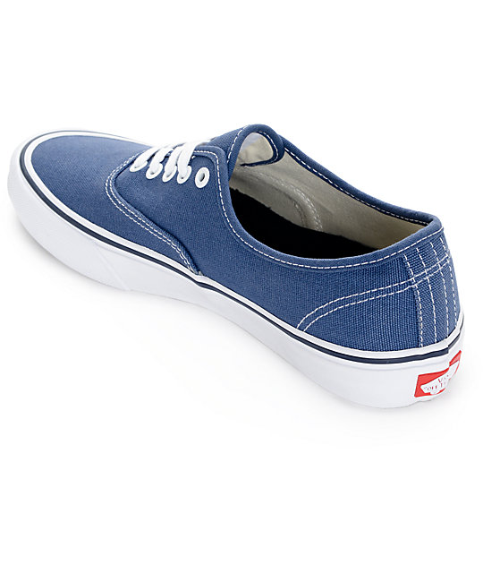 Vans Authentic Pro 50th Navy and White Skate Shoes