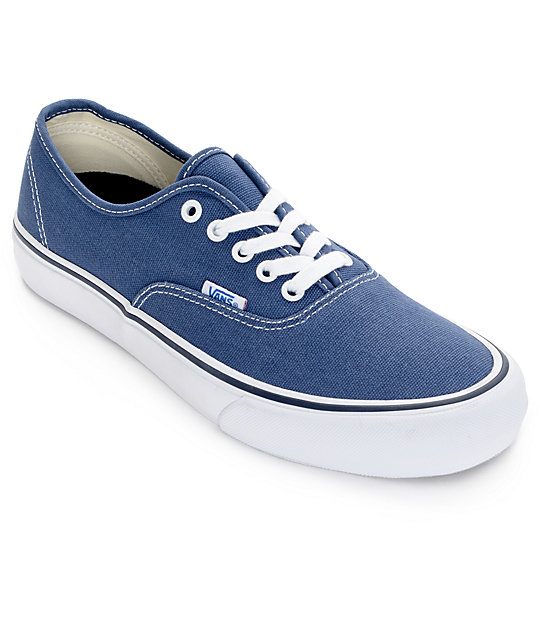 Vans Authentic Pro 50th Navy and White Skate Shoes at Zumiez : PDP