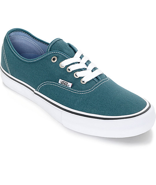 Vans Authentic Pro Balsam Green Skate Shoes (Mens)