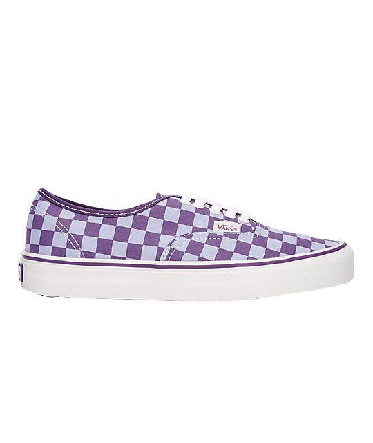 Vans Authentic Purple Checkerboard Shoes (Womens)