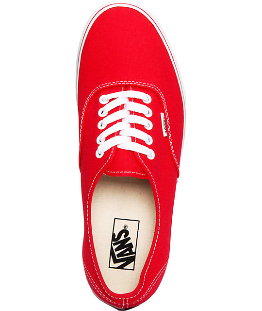 Vans Authentic Red Skate Shoes