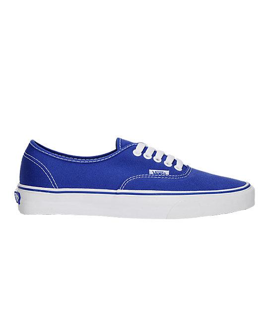 Vans Authentic Royal Blue Skate Shoes (Mens)