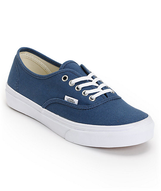 Vans Authentic Slim Dark Denim Blue Shoes (Womens)