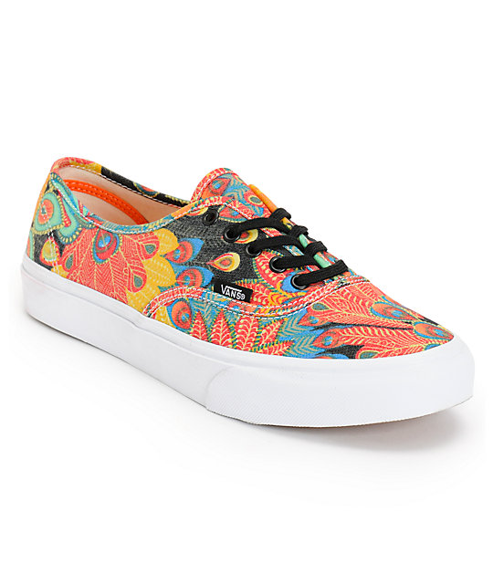 Vans Authentic Slim Peacock & True White Shoes (Womens)