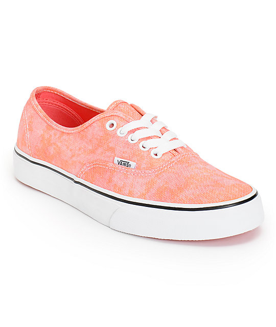 Vans Authentic Sparkle Coral Shoes (Womens)
