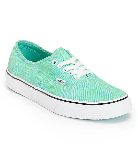 Vans Authentic Sparkle Mint Shoes