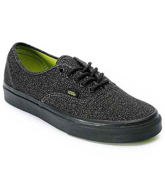 Vans Authentic Speckle Charcoal Skate Shoes
