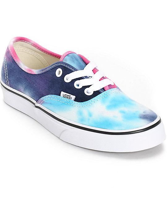 Vans Authentic Tie Dye Shoes (Womens)