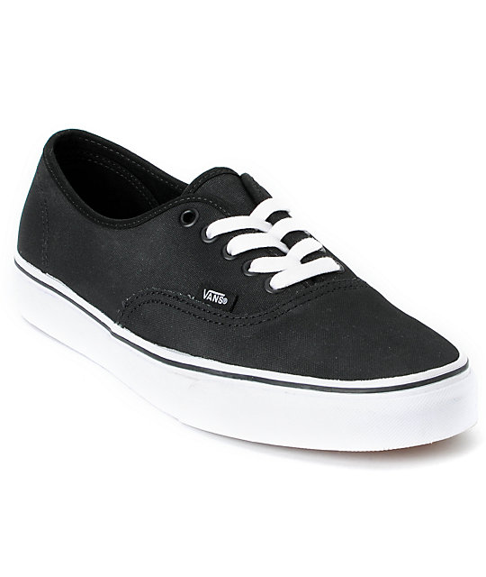 Vans Authentic Tough Poly Black Skate Shoes (Mens)