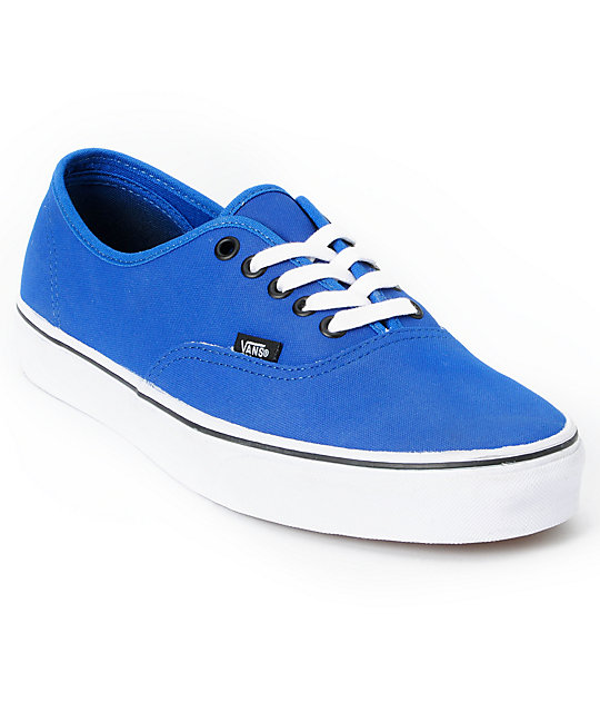 Vans Authentic Tough Poly Blue Skate Shoes (Mens)