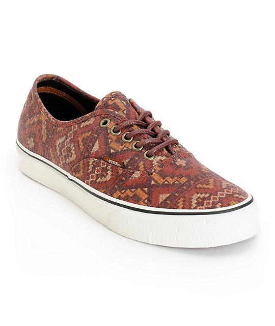 Vans Authentic Tribe Skate Shoes (Mens)
