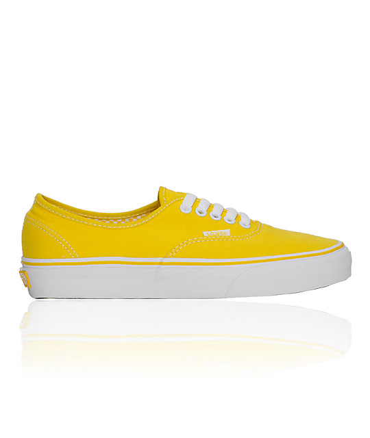 Vans Authentic True Yellow & White Shoes (Womens)