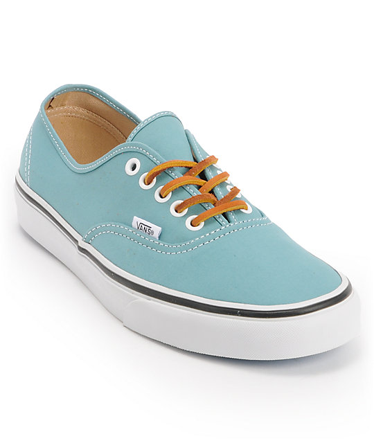 Vans Authentic Twill Porcelain Blue & True White Skate Shoes (Mens)