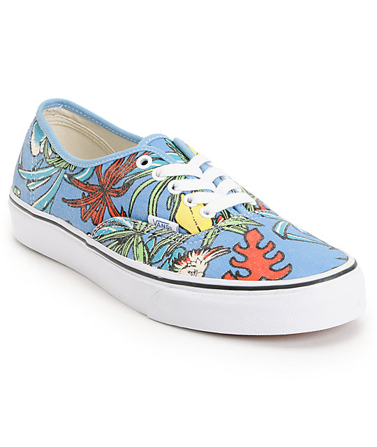 Vans Authentic Van Doren Parrot Blue Skate Shoes (Mens)
