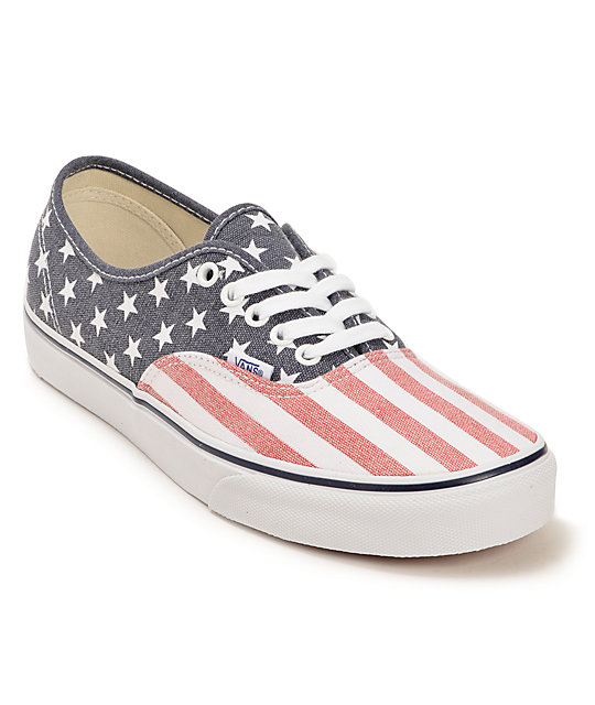 Vans Authentic Van Doren Stars & Stripes Skate Shoes (Mens)
