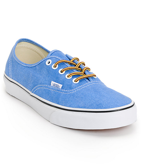 Vans Authentic Wash Skydiver Blue Skate Shoes (Mens)