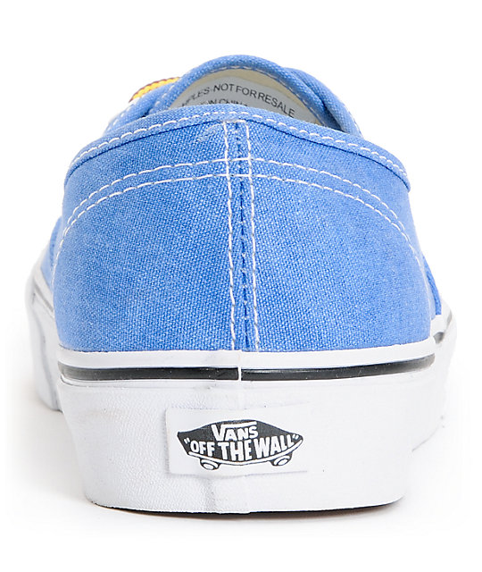Vans Authentic Wash Skydiver Blue Skate Shoes