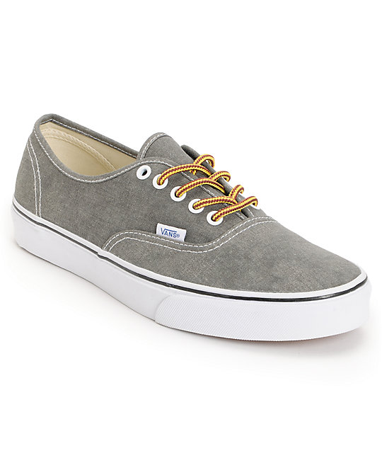 Vans Authentic Washed Duffle Skate Shoes (Mens)