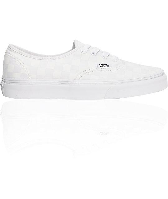 Vans Authentic White Chex Shoes