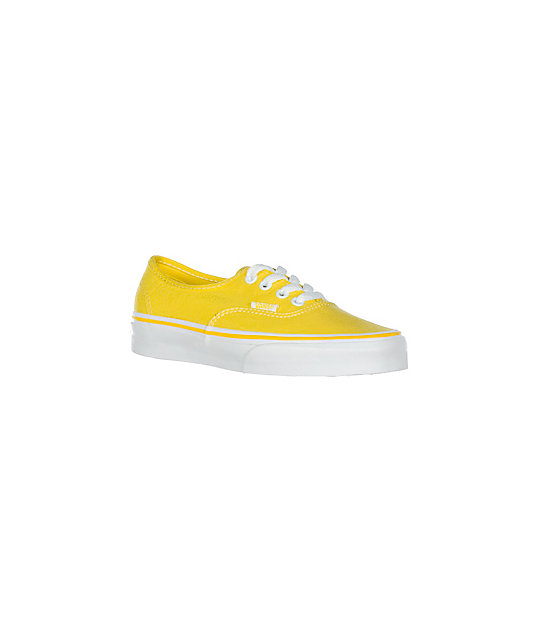 Vans Authentic Yellow Shoes (Womens)