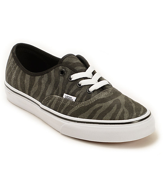 Vans Authentic Zebra Suede Shoes (Womens)