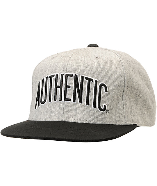 Vans Authenticity Heather Grey & Black Starter Snapback Hat